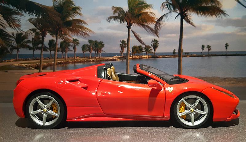 """Ferrari 488 Spider """"Magnum P.i."""" Jsy-0p10"""