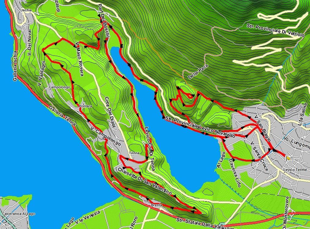 Giro del lago di LEVICO (TN) 10720510