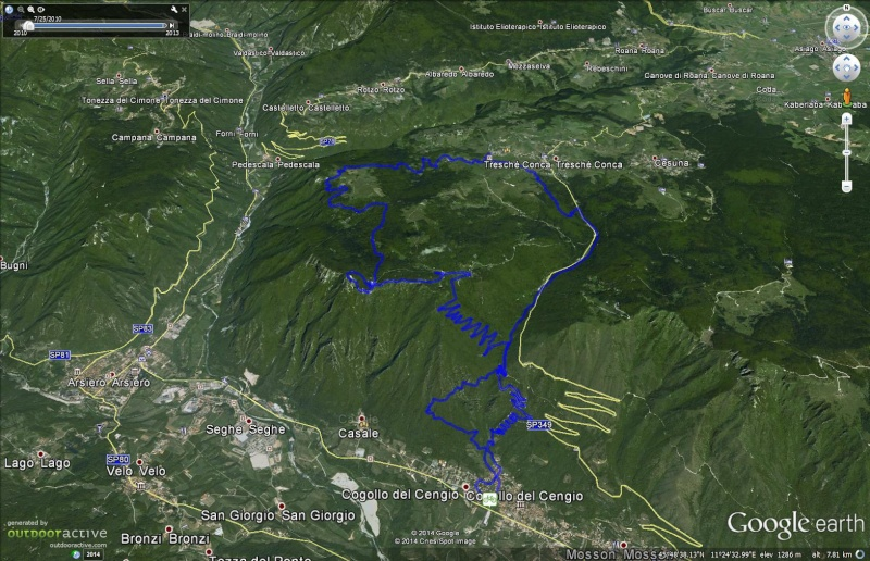 Monte Cengio - Forte Corbin - fine maggio data da definire Google10