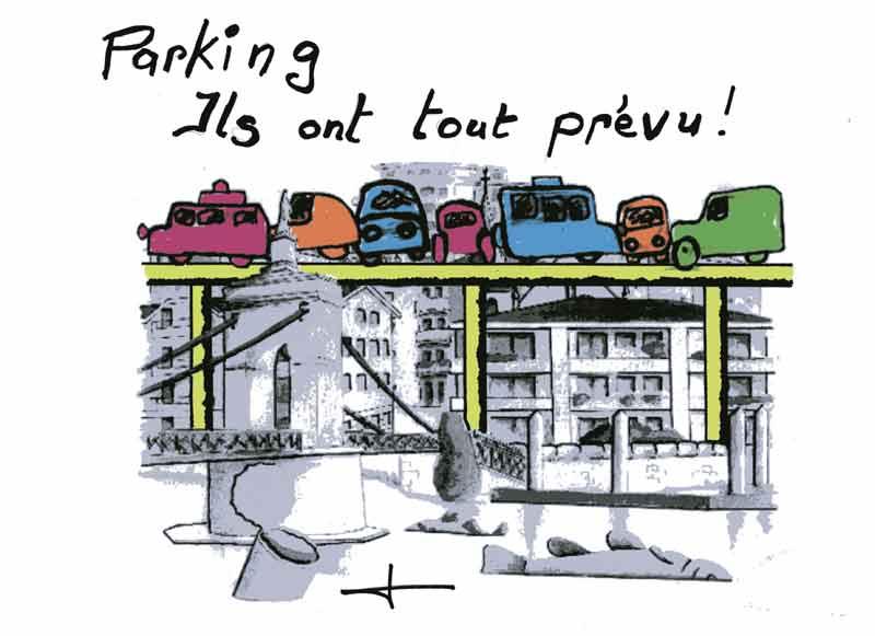 Dessins: Seyssel avant les élections municipales 2008 08-02-14