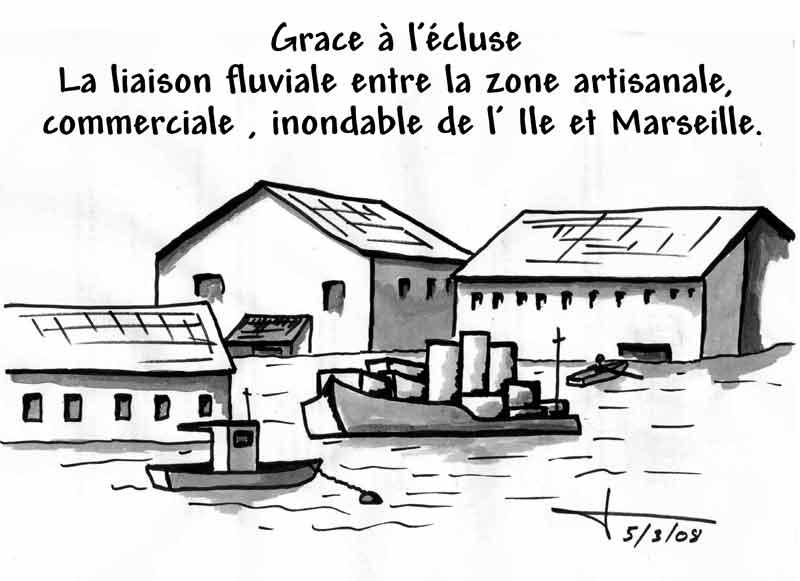 Dessins: Seyssel avant les élections municipales 2008 08-03-16