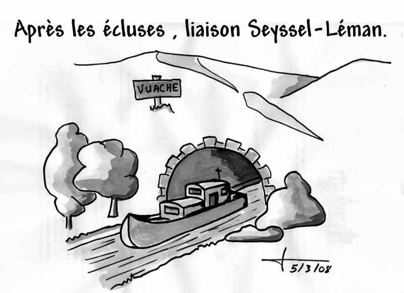 Dessins: Seyssel avant les élections municipales 2008 08-03-17