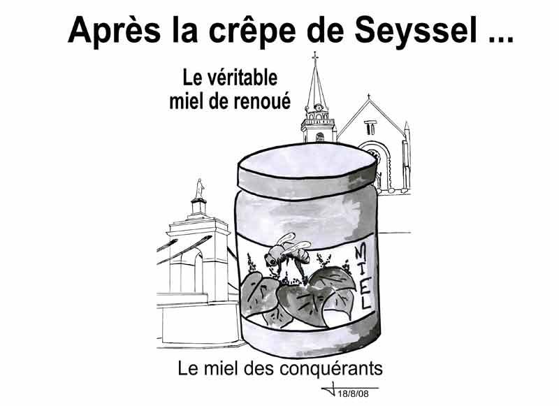 Dessins : Seyssel après les èlections municipales 2008 08-08-14