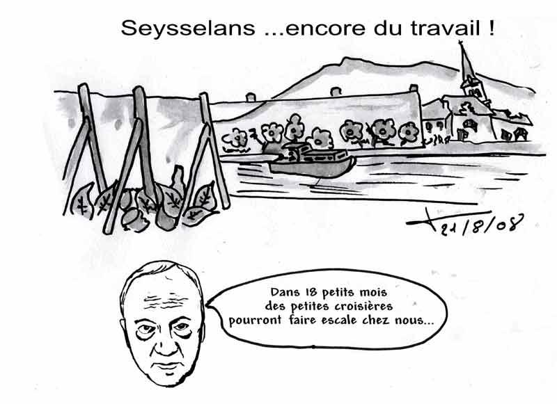 Dessins : Seyssel après les èlections municipales 2008 08-08-20
