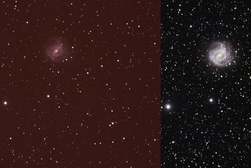 Les pléiades M45 Compar10
