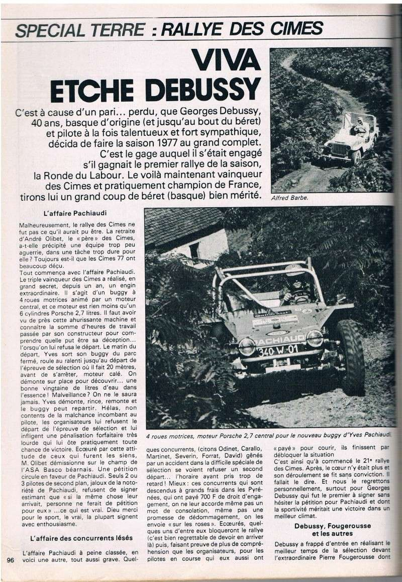 Rallye des Cimes 1977 Junior34