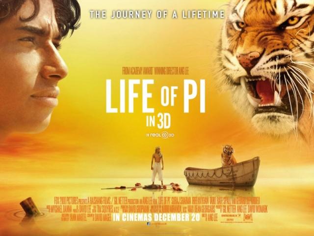 2012 - L'Odyssée de Pi - Ang Lee Cartel10