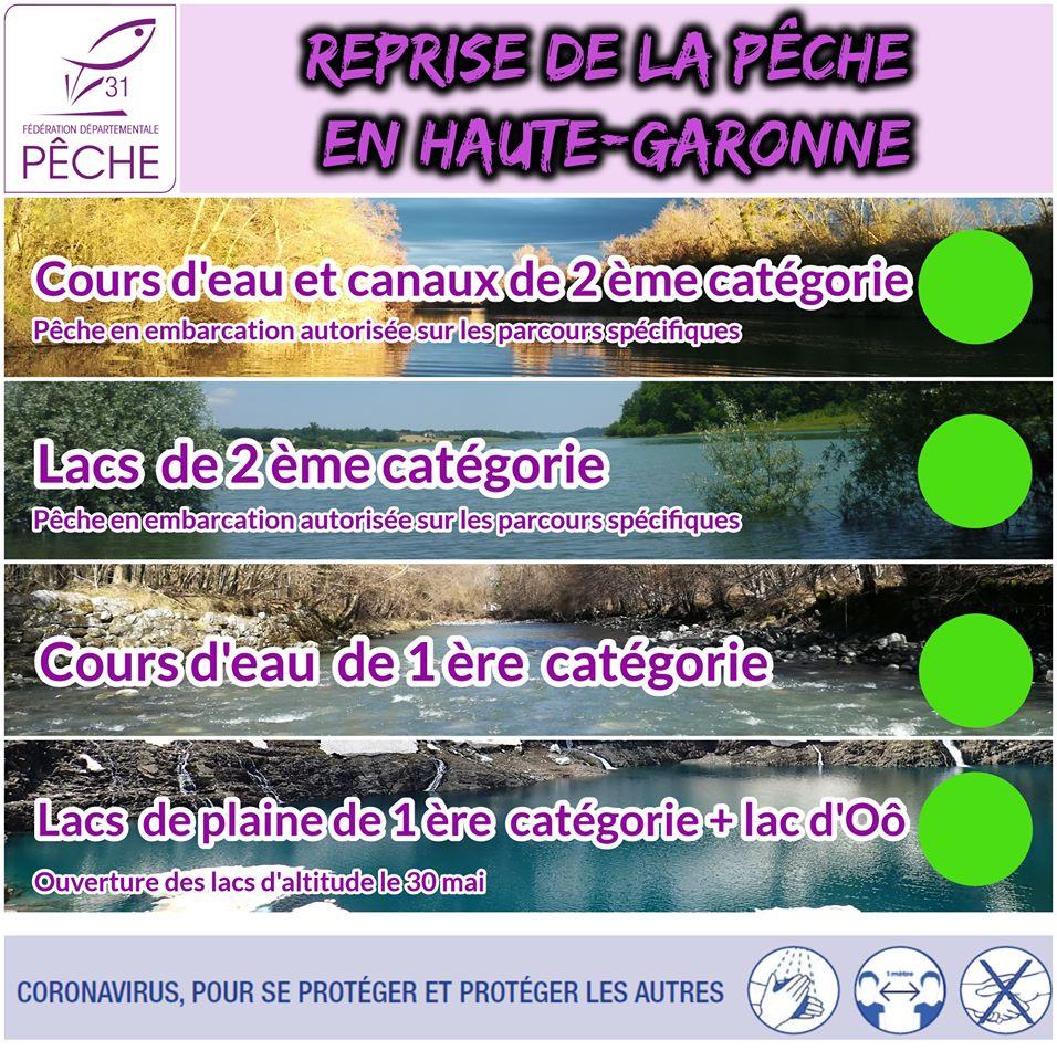Reprise de la pêche en Haute Garonne après confinement Pp10