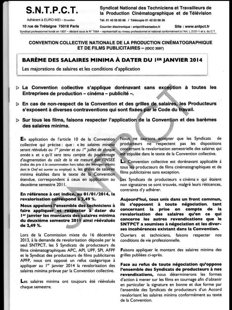 Barème des salaires minima au 1er janvier 2014 Image11