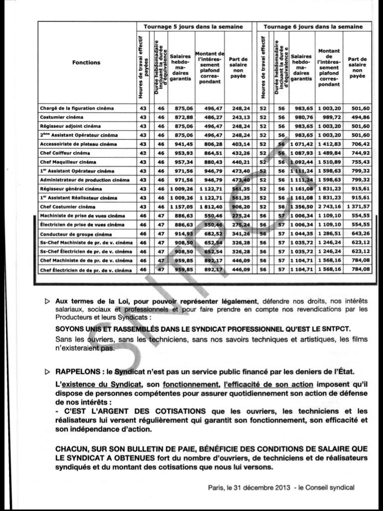Barème des salaires minima au 1er janvier 2014 Image14