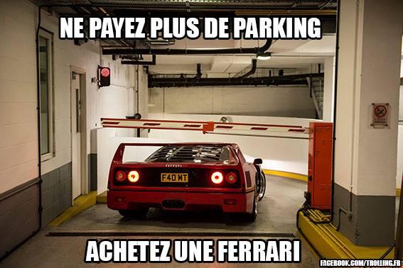 Tout l'intéret d'avoir une Ferrari Ferrar10