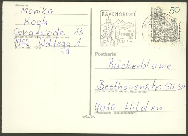 Bundesrepublik Deutschland  -  Einzel- und Mehrfachfrankaturen 101610