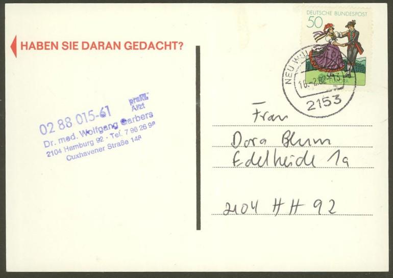 Bundesrepublik Deutschland  -  Einzel- und Mehrfachfrankaturen 109610