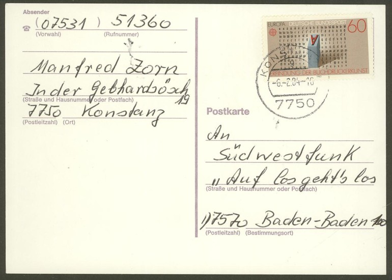 Bundesrepublik Deutschland  -  Einzel- und Mehrfachfrankaturen 117510