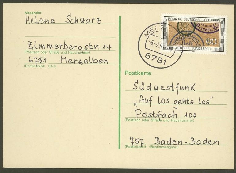 Bundesrepublik Deutschland  -  Einzel- und Mehrfachfrankaturen 119510