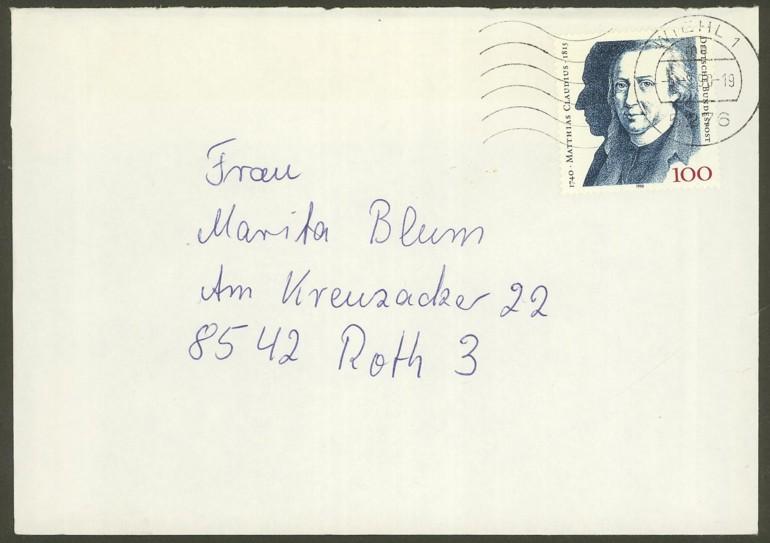 Bundesrepublik Deutschland  -  Einzel- und Mehrfachfrankaturen 147310