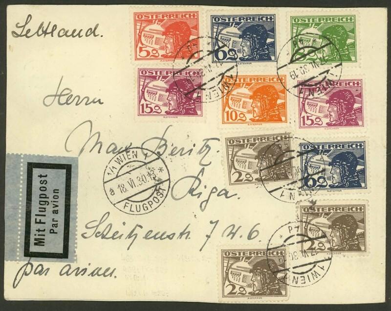 Ältere Flugpost aus Wien 18063010