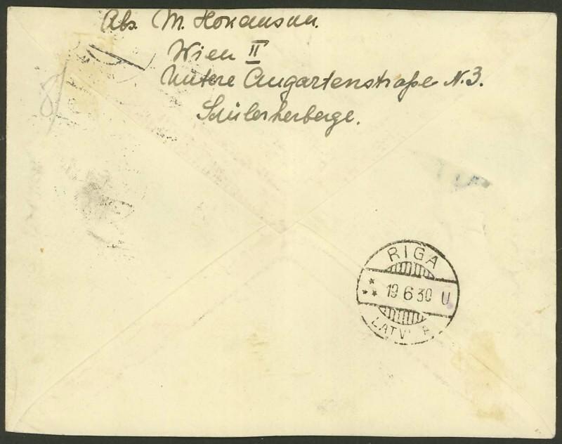 Ältere Flugpost aus Wien 18063011