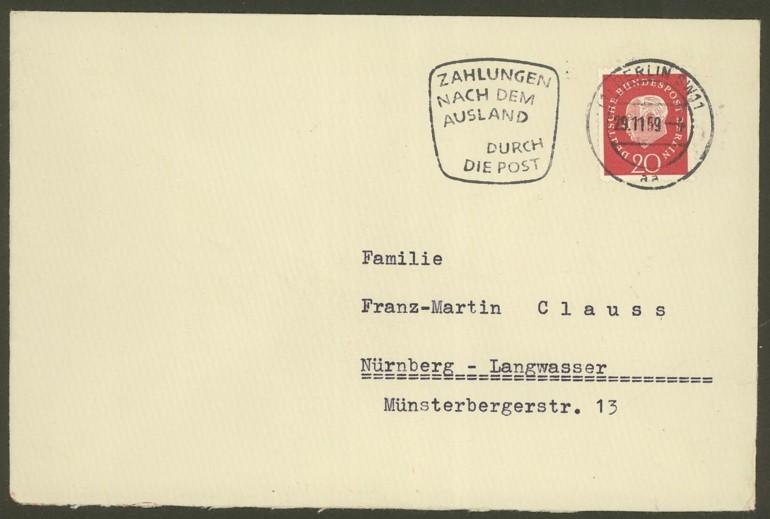 Bundesrepublik Deutschland  -  Einzel- und Mehrfachfrankaturen 30410