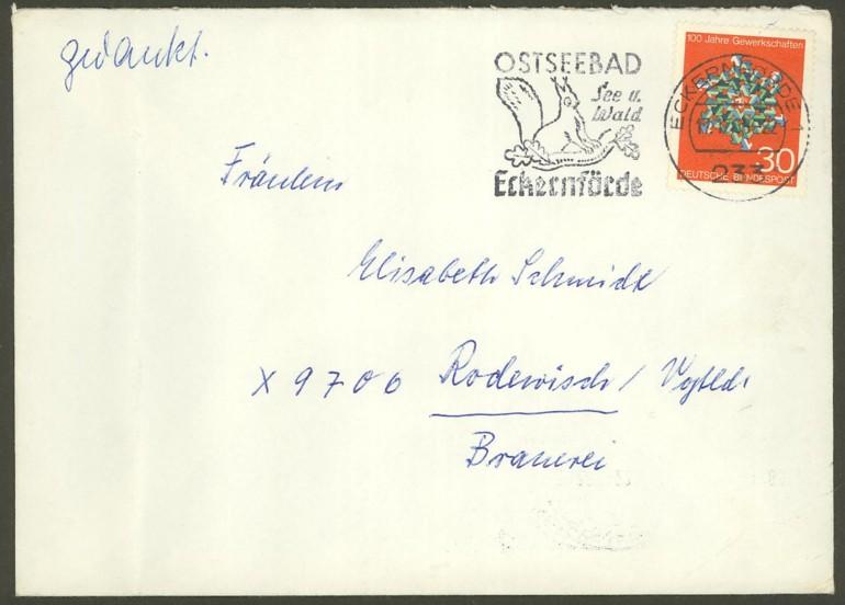 Bundesrepublik Deutschland  -  Einzel- und Mehrfachfrankaturen 57010
