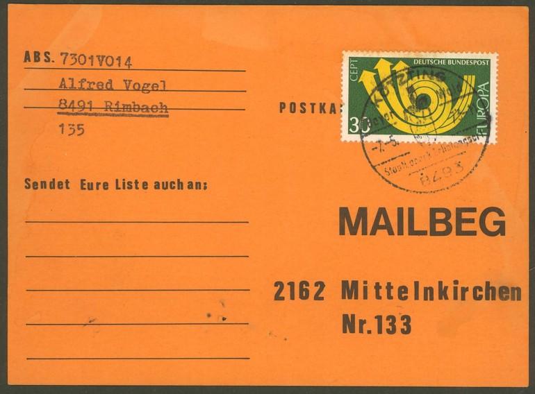 Bundesrepublik Deutschland  -  Einzel- und Mehrfachfrankaturen 76810