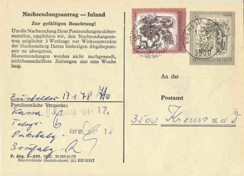 """schönes - Ganzsachen mit Wertstempel """"Schönes Österreich"""" Aak_2313"""
