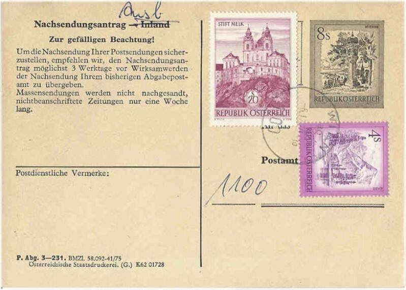 """schönes - Ganzsachen mit Wertstempel """"Schönes Österreich"""" Aak_2317"""