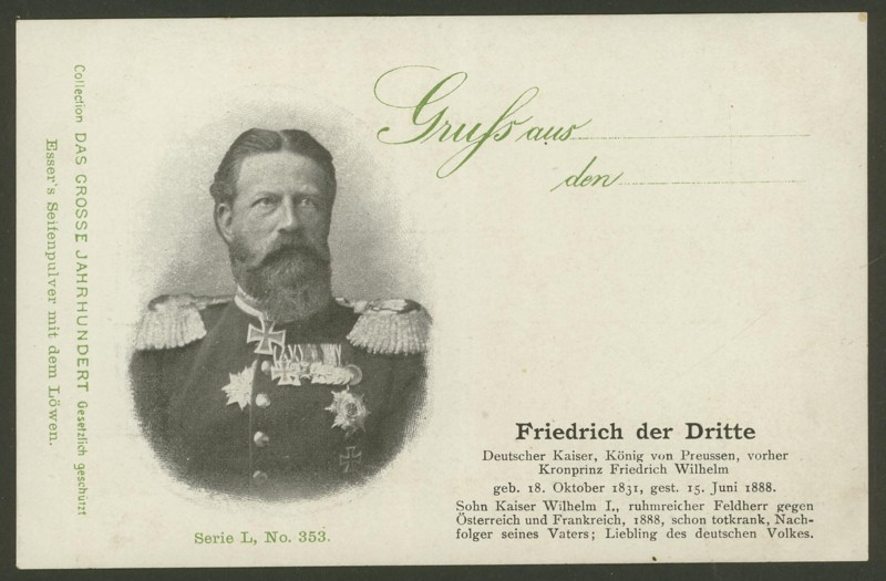Sammlung Persönlichkeiten des 19. Jahrhunderts Friedr10