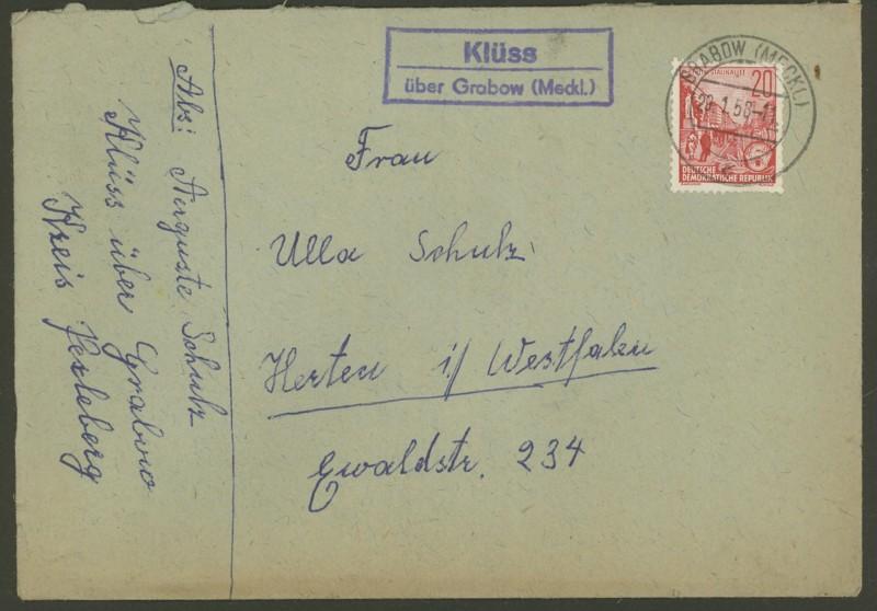 Deutschland  -  Landpoststempel (Poststellenstempel) Klass_11
