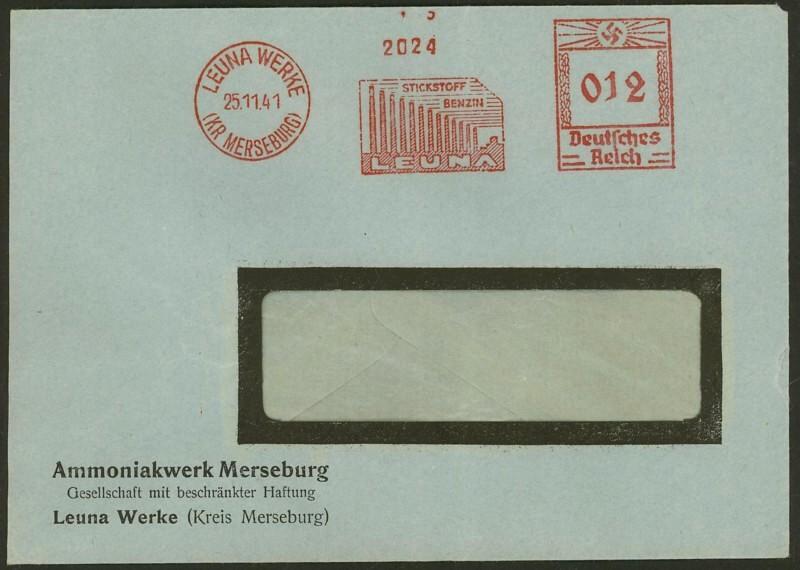 1945 - Freistempel / Absenderfreistempel Deutsches Reich (bis 1945) Leuna-10