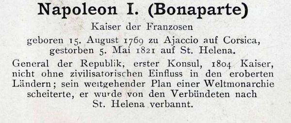 Sammlung Persönlichkeiten des 19. Jahrhunderts Napole11