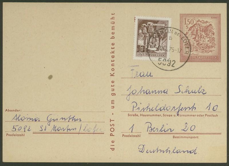 """schönes - Ganzsachen mit Wertstempel """"Schönes Österreich"""" P_438_11"""