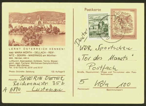 """schönes - Ganzsachen mit Wertstempel """"Schönes Österreich"""" P_441_10"""