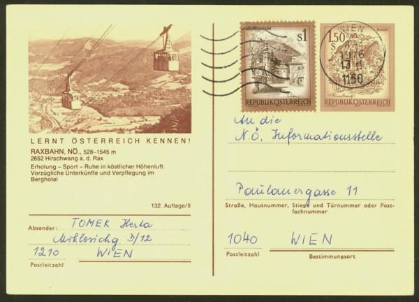 """schönes - Ganzsachen mit Wertstempel """"Schönes Österreich"""" P_441_12"""