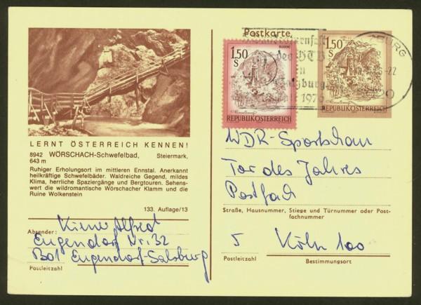 """schönes - Ganzsachen mit Wertstempel """"Schönes Österreich"""" P_441_18"""