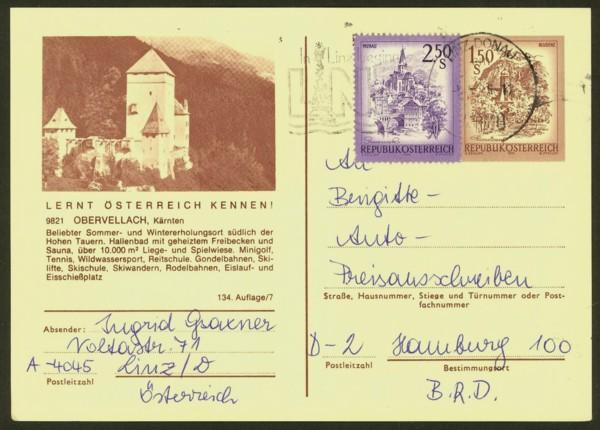 """schönes - Ganzsachen mit Wertstempel """"Schönes Österreich"""" P_441_22"""