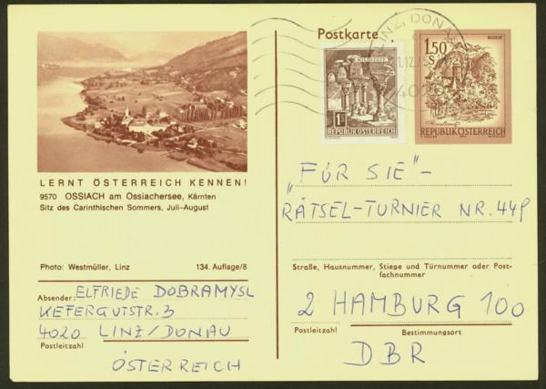 """schönes - Ganzsachen mit Wertstempel """"Schönes Österreich"""" P_441_24"""