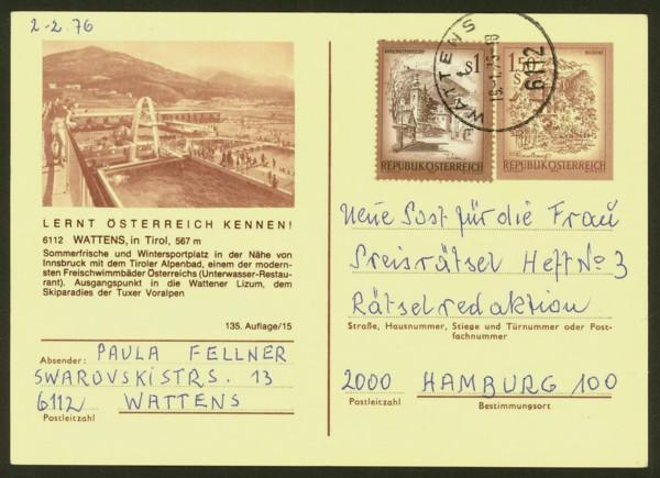 """schönes - Ganzsachen mit Wertstempel """"Schönes Österreich"""" P_441_32"""