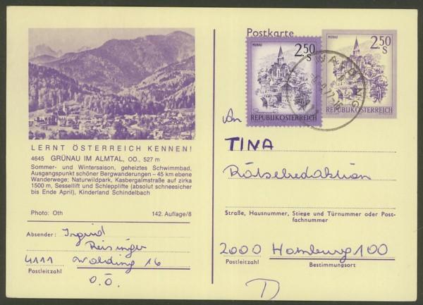 """schönes - Ganzsachen mit Wertstempel """"Schönes Österreich"""" P_446_40"""