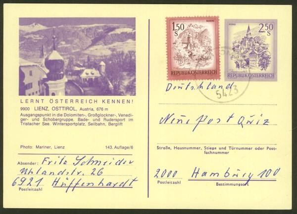 """schönes - Ganzsachen mit Wertstempel """"Schönes Österreich"""" P_446_46"""