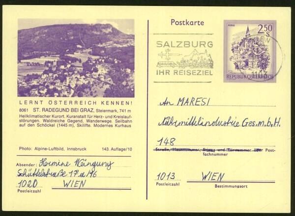 """schönes - Ganzsachen mit Wertstempel """"Schönes Österreich"""" P_446_48"""