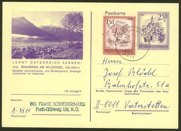 """schönes - Ganzsachen mit Wertstempel """"Schönes Österreich"""" P_446_58"""