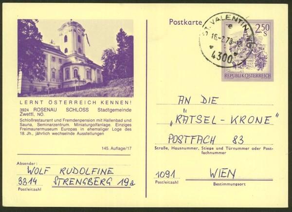 """schönes - Ganzsachen mit Wertstempel """"Schönes Österreich"""" P_446_60"""