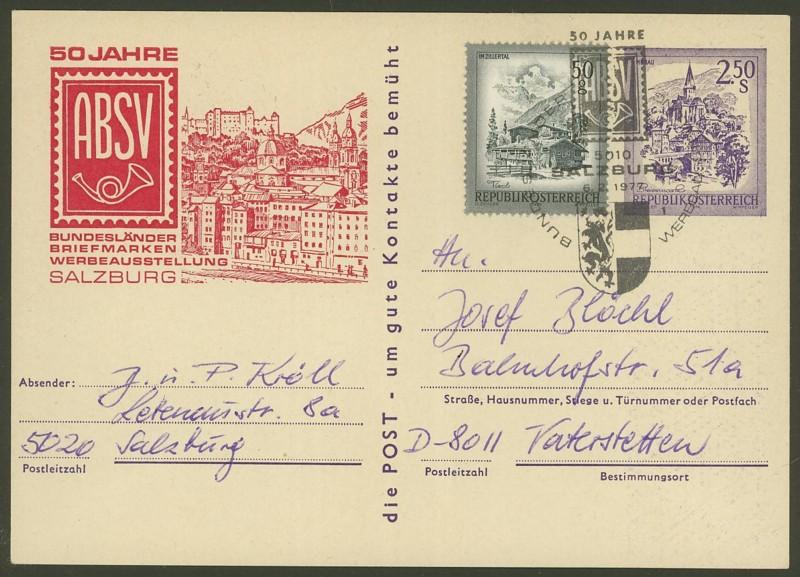 """Wertstempel """"Schönes Österreich"""" - Zudrucke auf Ganzsachen P_446_63"""