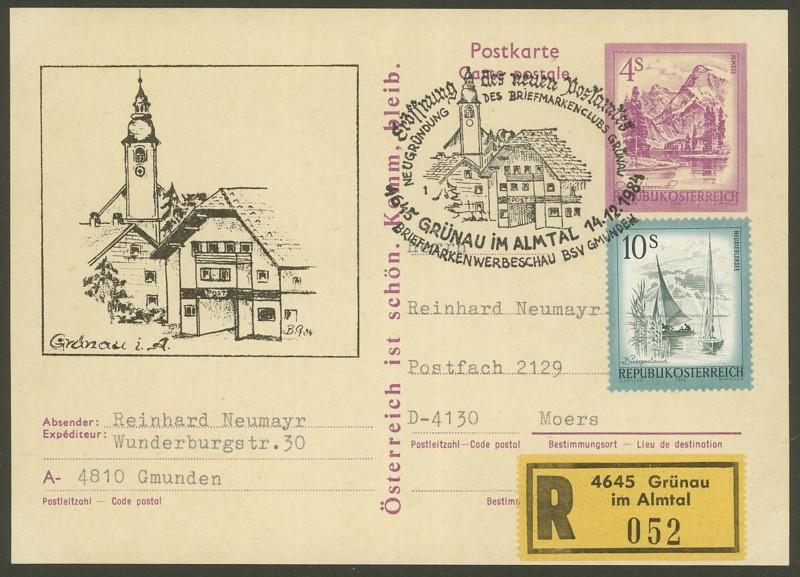"""Wertstempel """"Schönes Österreich"""" - Zudrucke auf Ganzsachen P_449_18"""