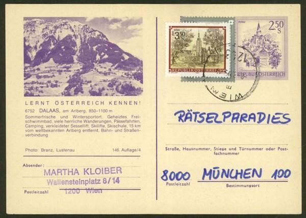 """schönes - Ganzsachen mit Wertstempel """"Schönes Österreich"""" P_450_10"""