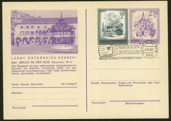 """schönes - Ganzsachen mit Wertstempel """"Schönes Österreich"""" P_451_40"""
