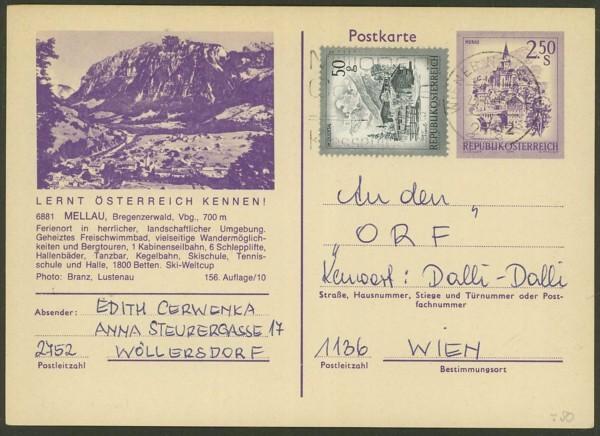 """schönes - Ganzsachen mit Wertstempel """"Schönes Österreich"""" P_452_10"""
