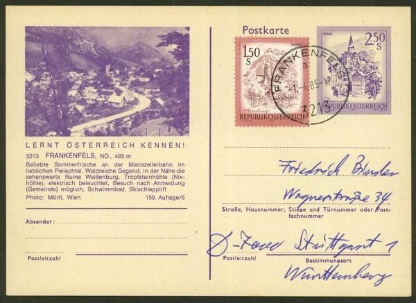 """Ganzsachen mit Wertstempel """"Schönes Österreich"""" - Seite 2 P_452_24"""