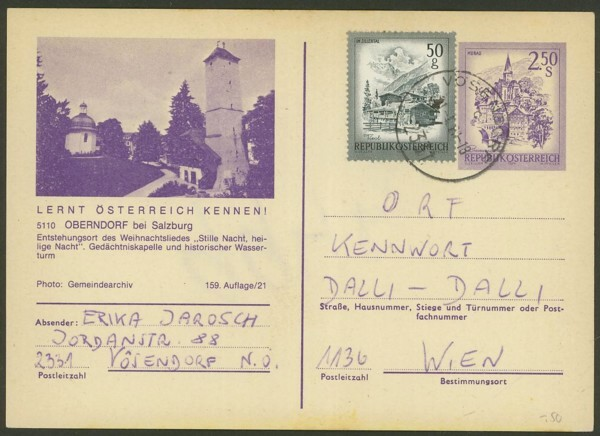"""Ganzsachen mit Wertstempel """"Schönes Österreich"""" - Seite 2 P_452_26"""